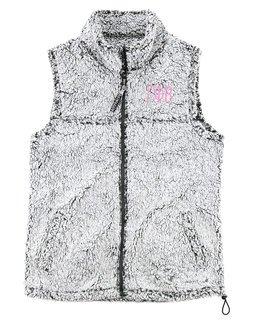 Gamma Phi Beta Smoky Grey Sherpa Vest