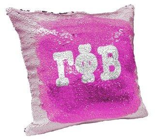 Gamma Phi Beta Sorority Flip Sequin Throw Pillow Cover
