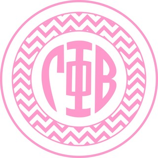 Gamma Phi Beta Sorority Monogram Bumper Sticker