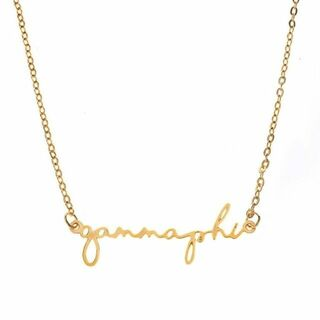Gamma Phi Beta Sorority Script Necklace