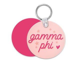 Gamma Phi Beta Star Key Chain