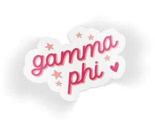 Gamma Phi Beta Star Sticker