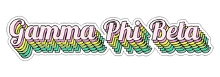 Gamma Phi Beta Step Decal Sticker
