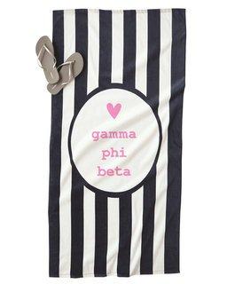 Gamma Phi Beta Striped Beach Towel