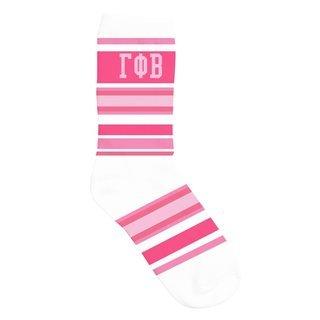 Gamma Phi Beta Striped Crew Socks