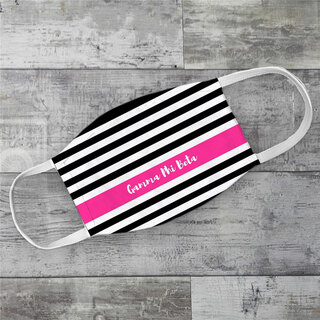 Gamma Phi Beta Stripes Face Mask