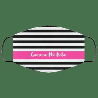 Gamma Phi Beta Stripes Face Mask