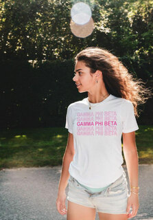 Gamma Phi Beta Thank You For Shopping Tee - Comfort Colors