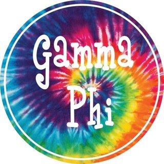 Gamma Phi Beta Tie-Dye Circle Sticker