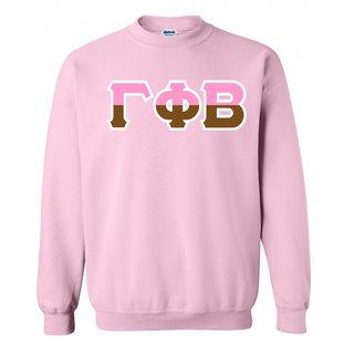 Gamma Phi Beta Two Tone Greek Lettered Crewneck Sweatshirt