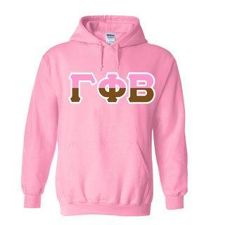 Gamma Phi Beta Two Tone Greek Lettered Hooded Sweatshirt
