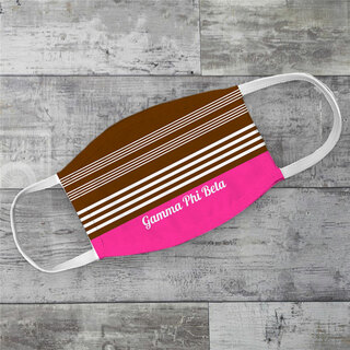Gamma Phi Beta Two Tone Stripes Face Mask