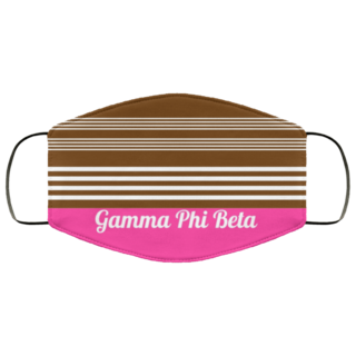 Gamma Phi Beta Two Tone Stripes Face Mask