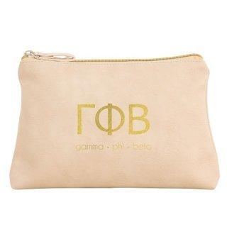 Gamma Phi Beta Vegan Leather Cosmetic Bags