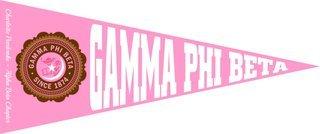 Gamma Phi Beta Wall Pennants