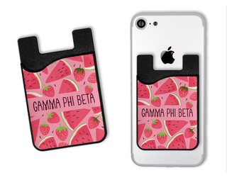 Gamma Phi Beta Watermelon Strawberry Card Caddy