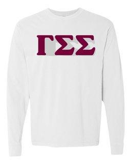 Gamma Sigma Sigma 3 D Greek Long Sleeve T-Shirt - Comfort Colors