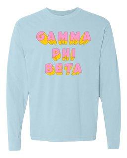 Gamma Sigma Sigma 3Delightful Long Sleeve T-Shirt - Comfort Colors