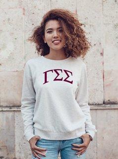 Gamma Sigma Sigma Arched Greek Lettered Crewneck Sweatshirt