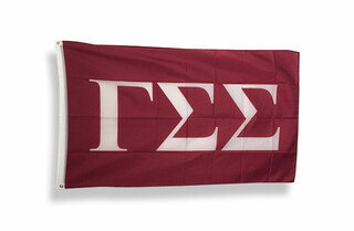 Gamma Sigma Sigma Big Greek Letter Flag