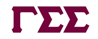 Gamma Sigma Sigma Big Greek Letter Window Sticker Decal