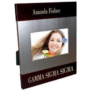 Gamma Sigma Sigma Brush Silver Frame