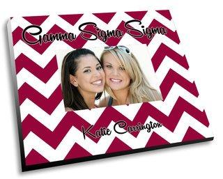 Gamma Sigma Sigma Chevron Picture Frame