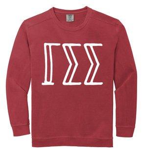 Gamma Sigma Sigma Comfort Colors Greek Crewneck Sweatshirt