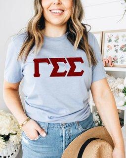 Gamma Sigma Sigma Comfort Colors Lettered Greek Short Sleeve T-Shirt