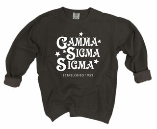 Gamma Sigma Sigma Comfort Colors Old School Custom Crew