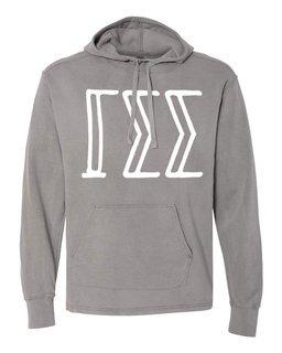 Gamma Sigma Sigma Comfort Colors - Terry Scuba Neck Greek Hooded Pullover