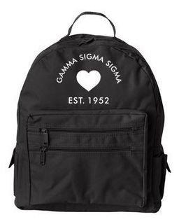 DISCOUNT-Gamma Sigma Sigma Crest - Shield Mascot Backpack