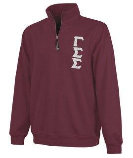 Gamma Sigma Sigma Crosswind Quarter Zip Twill Lettered Sweatshirt