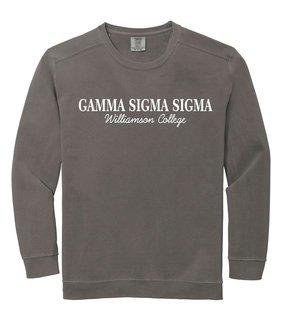Gamma Sigma Sigma Script Comfort Colors Greek Crewneck Sweatshirt