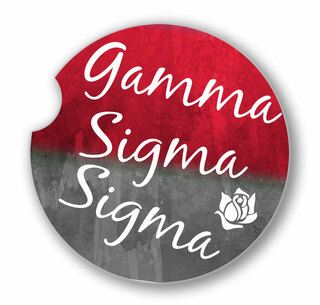 Gamma Sigma Sigma Custom Sandstone Car Cup Holder Coaster