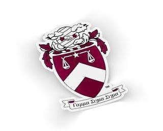 Gamma Sigma Sigma Die Cut Crest Sticker
