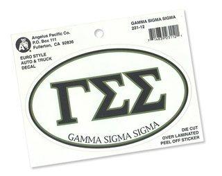 Gamma Sigma Sigma Euro Style Sticker