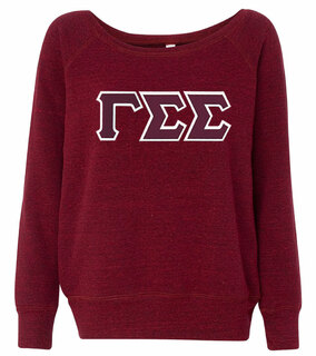 DISCOUNT-Gamma Sigma Sigma Fleece Wideneck Sweatshirt