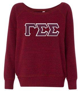 DISCOUNT-Gamma Sigma Sigma Fleece Wideneck Sweatshirt