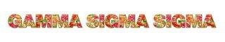 "Gamma Sigma Sigma Floral Long Window Sticker - 15"" long"