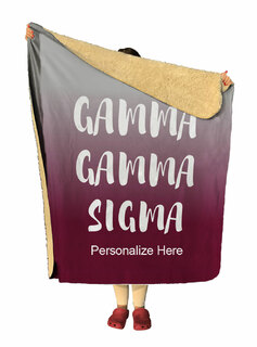 Gamma Sigma Sigma Gradient Sherpa Lap Blanket