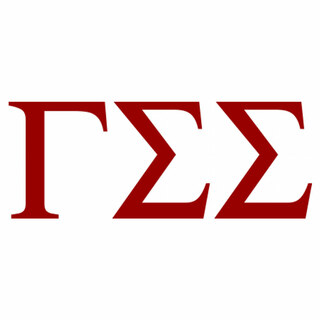 Gamma Sigma Sigma Greek Letter Window Sticker Decal