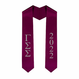 Gamma Sigma Sigma Greek Lettered Graduation Sash Stole With Year - Best Value