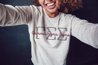 Gamma Sigma Sigma Greek Type Crewneck Sweatshirt