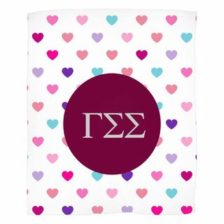 Gamma Sigma Sigma Hearts Fleece Blanket