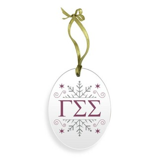 Gamma Sigma Sigma Holiday Color Snowflake Christmas Ornament