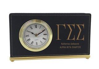 Gamma Sigma Sigma Horizontal Desk Clock
