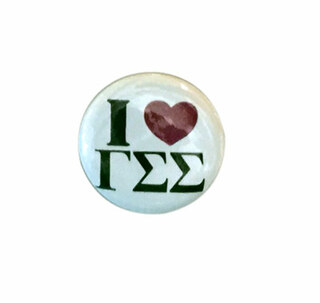 Gamma Sigma Sigma I Love Mini Sorority Buttons