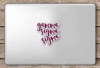 Gamma Sigma Sigma Script Sticker