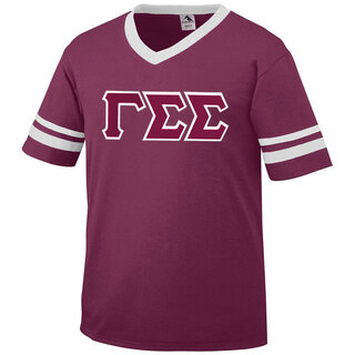 DISCOUNT-Gamma Sigma Sigma Jersey With Greek Applique Letters